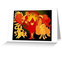 Sun Pokemon Greeting Card