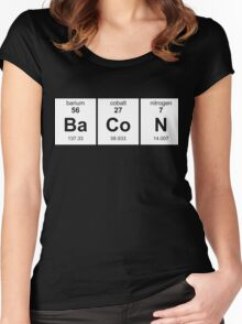 Periodic Table of Bacon Women's Fitted Scoop T-Shirt