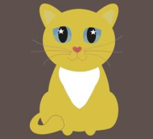 Only One Yellow Kitty One Piece - Short Sleeve