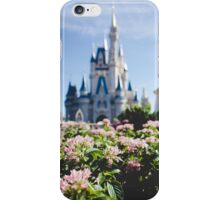 flowers and a big castle iPhone Case/Skin