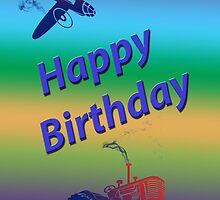Happy Birthday Boy Card by Julia Harwood