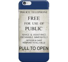 Doctor Who - Tardis Sign iPhone Case/Skin