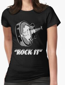 the rock t-shirt Womens Fitted T-Shirt