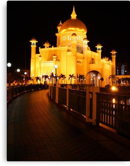Sultan Omar Ali Saifuddin Mosque, Brunei 2 by Philip Alexander