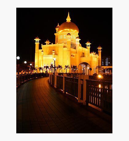 Sultan Omar Ali Saifuddin Mosque, Brunei 2 Photographic Print