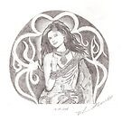 a lady in a saree by bharath