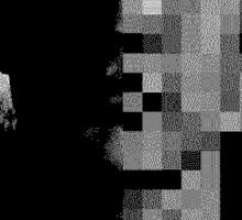Desolate Designer Face Pixel Sticker