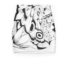 Black and white butterflies Mini Skirt