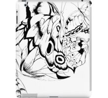 Black and white butterflies iPad Case/Skin