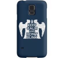 Doctor Who - Keep Calm and Don't Blink Samsung Galaxy Case/Skin