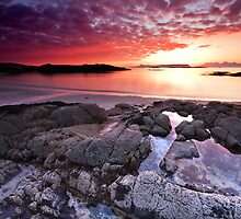 Fire in the Arisaig Sky by Douglas  Latham