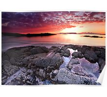 Fire in the Arisaig Sky Poster