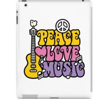 Peace, Love, Music iPad Case/Skin