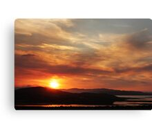 Solstice sunset Canvas Print