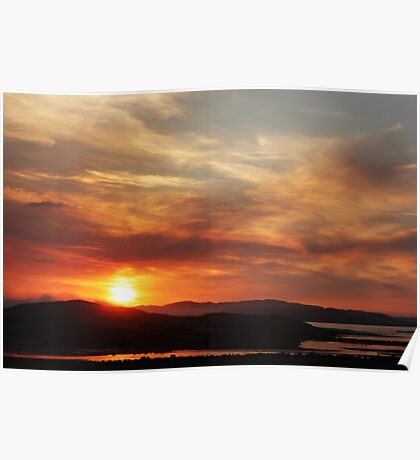 Solstice sunset Poster