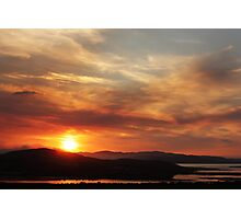 Solstice sunset Photographic Print