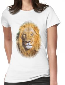 Portrait young lion Womens Fitted T-Shirt