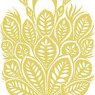 Peacock stencil - beige by ciriva