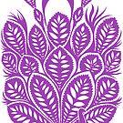 Peacock stencil - purple by ciriva