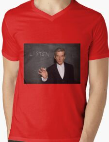 Doctor Who - Listen Mens V-Neck T-Shirt