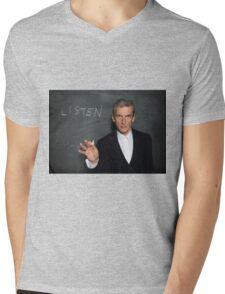 Doctor Who - Listen Mens V-Neck T-Shirt