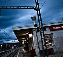Trainstation in Spanish twilight by Tycho's Eye  Photography