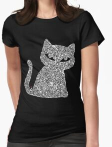 White Ink Rain Cat T-shirt T-Shirt