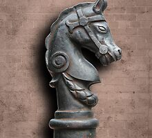 Horse Head Hitching Post by DebiDalio