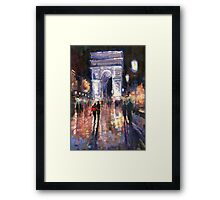 Paris Miting Point Arc de Triomphie Framed Print