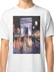 Paris Miting Point Arc de Triomphie Classic T-Shirt