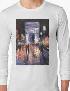 Paris Miting Point Arc de Triomphie Long Sleeve T-Shirt