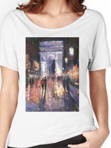 Paris Miting Point Arc de Triomphie Women's Relaxed Fit T-Shirt