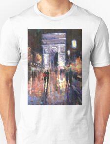 Paris Miting Point Arc de Triomphie Unisex T-Shirt