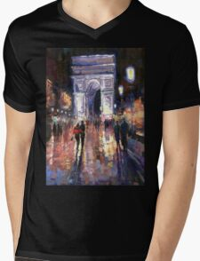 Paris Miting Point Arc de Triomphie Mens V-Neck T-Shirt