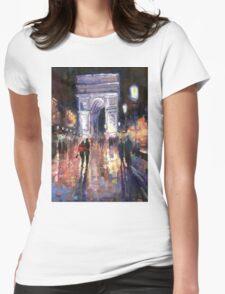 Paris Miting Point Arc de Triomphie Womens Fitted T-Shirt