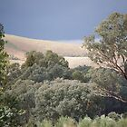 pastel landscape by linelight