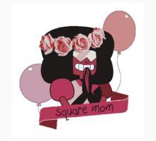 Square Mom Garnet One Piece - Short Sleeve