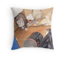 ferret action shot! Throw Pillow