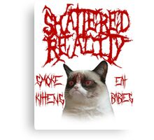 Shattered Reality Cat Canvas Print