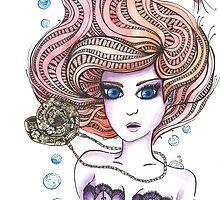 Little Mermaid inpired by Ibubblesart