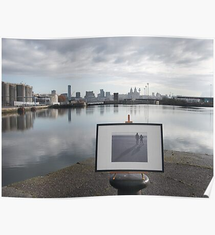 Dock view skyline Poster