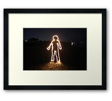 Light Person Framed Print