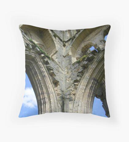 Rievaulx Abbey columns - North Yorkshire Throw Pillow