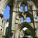 Rievaulx Abbey arches - North Yorkshire by monkeyferret