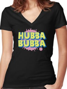 HUBBA BUBBA Women's Fitted V-Neck T-Shirt
