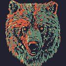 Bear dark and orange by weirdbird