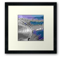 Surfing With Giants Framed Print