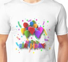 Fun Happy Birthday Balloons Unisex T-Shirt