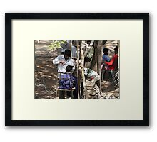 Livelihood under a tree. Framed Print