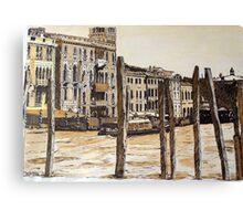 Venice-Main Street. Canvas Print
